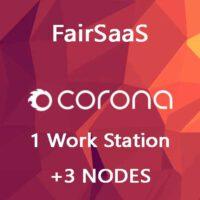 Corona Renderer FairSaaS 1 WS + 3 NODES