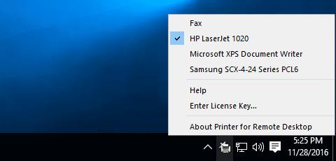 Printer for Remote Desktop